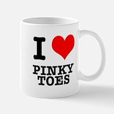 I Heart (Love) Pinky Toes Mug