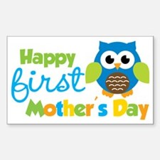 Owl Boy 1st Mothers Day Decal