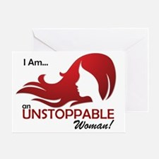 Unstoppable Woman Greeting Card