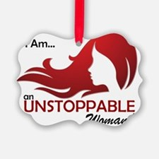 Unstoppable Woman Ornament