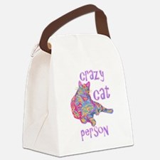 Cool Crazy cat lady Canvas Lunch Bag