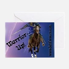 Mousepad Warrior Up Charge Lightning Greeting Card