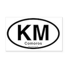 KM - Comoros Oval Rectangle Car Magnet