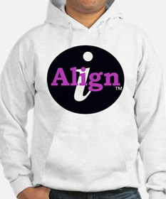 iAlign logo in Black and Pink Hoodie