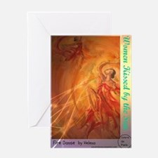 WOMEN KISSED BY THE SUN BY Helena Greeting Card