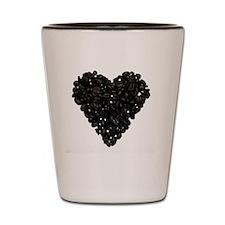 I Love Coffee Coffee Bean Heart Shot Glass