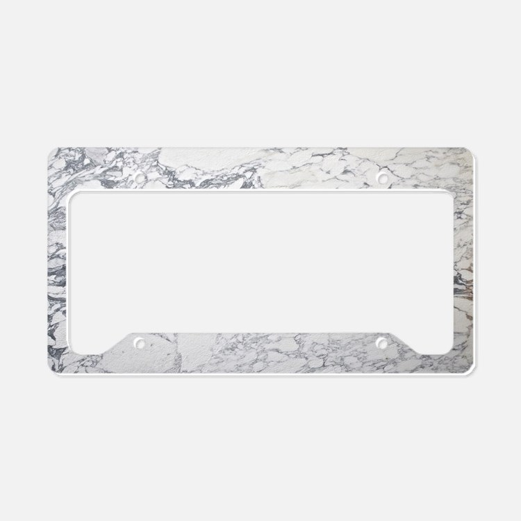 Marble Clutch License Plate Holder