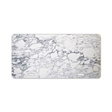 Marble Clutch Aluminum License Plate