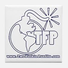 Two Fuckin Pundits Logo Tile Coaster