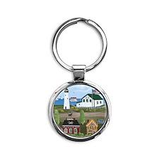 Maryland Round Keychain