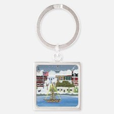 Christmas in Annapolis Square Keychain