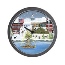 Christmas in Annapolis Wall Clock