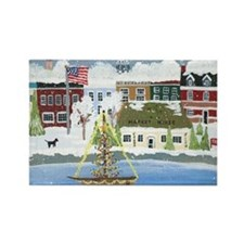 Christmas in Annapolis Rectangle Magnet