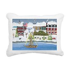 Christmas in Annapolis Rectangular Canvas Pillow