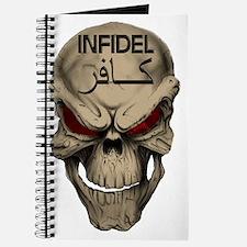 Red Eyed Infidel Skull Journal