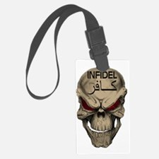 Red Eyed Infidel Skull Luggage Tag