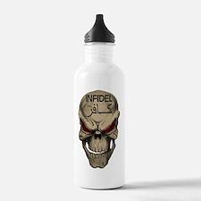 Red Eyed Infidel Skull Water Bottle