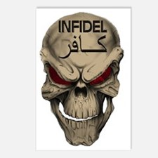 Red Eyed Infidel Skull Postcards (Package of 8)