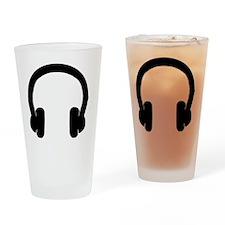 Headphones Drinking Glass