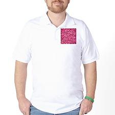 Bright Pink Leopard Print. T-Shirt
