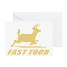 Fast Food Deer Greeting Card