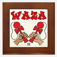 red Waza Framed Tile
