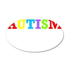 Autism awarness 35x21 Oval Wall Decal