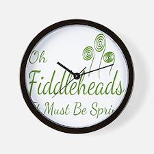 Oh Fiddleheads Wall Clock