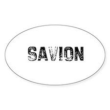 Savion Oval Bumper Stickers
