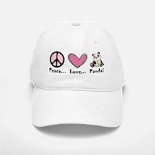 Peace... love... panda! Baseball Baseball Cap