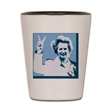 MAGGIE THATCHER VICTORY PRINT Shot Glass