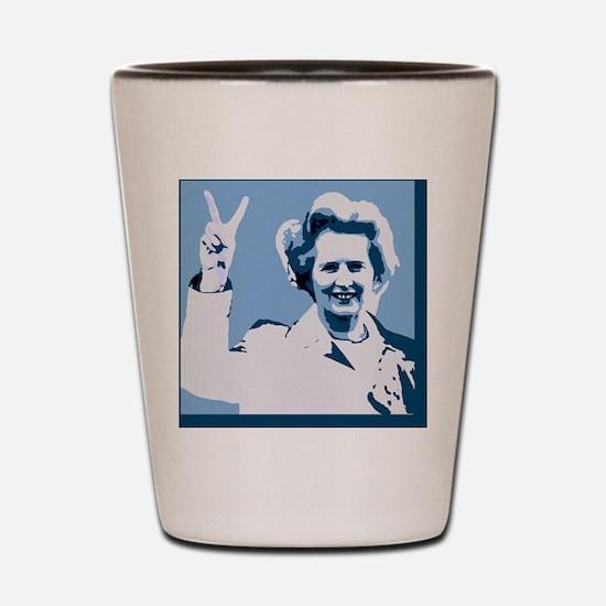 MAGGIE THATCHER VICTORY PRINT Shot Glass