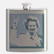 MAGGIE THATCHER VICTORY PRINT Flask
