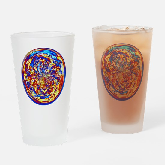 Rainbow Fire Drinking Glass