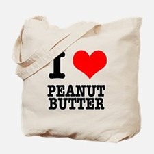 I Heart (Love) Peanut Butter Tote Bag
