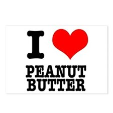 I Heart (Love) Peanut Butter Postcards (Package of