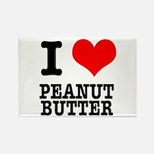 I Heart (Love) Peanut Butter Rectangle Magnet