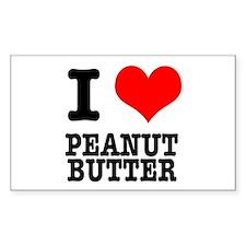 I Heart (Love) Peanut Butter Rectangle Decal