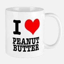 I Heart (Love) Peanut Butter Small Small Mug