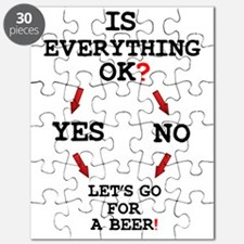 IS EVERYTHING OK - LETS GOT FOR A BEER! Z Puzzle