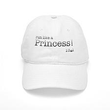 Grunge Typewriter Run Like a Princess Baseball Cap