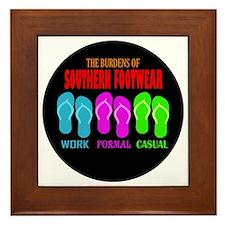 Southern Footwear Flip Flop Framed Tile