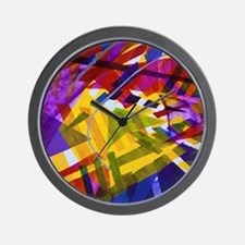 Inner Space - Abstract Rainbow of Light Wall Clock