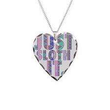Just Sloth It Necklace Heart Charm