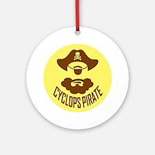 Cyclops Pirate Round Ornament