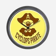 Cyclops Pirate Wall Clock
