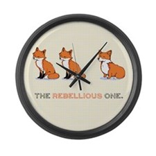 The Rebellious One Large Wall Clock
