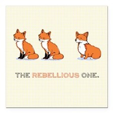 "The Rebellious One Square Car Magnet 3"" x 3"""