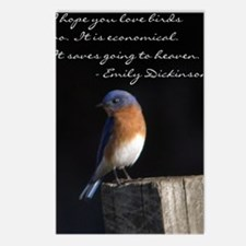 I hope you love birds too Postcards (Package of 8)