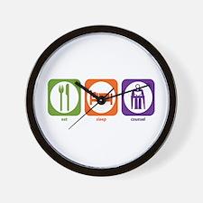 Eat Sleep Counsel Wall Clock